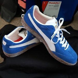 Puma Blue Suede Shoes (Mens)